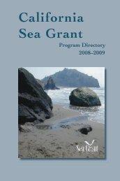 2008–09 Program Directory - California Sea Grant