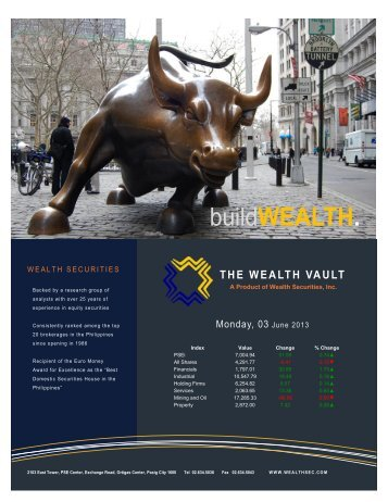 buildWEALTH. - Philequity Management, Inc.