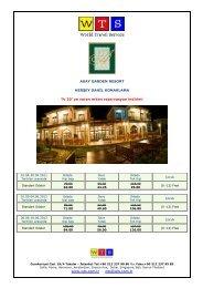 Akay Garden Resort fiyat listesi için tıklayınız