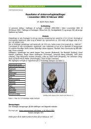 Resultater af vinterrovfugletællinger i november 2001 til februar 2002