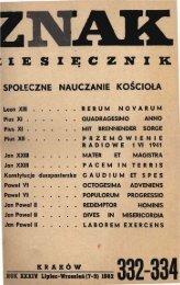 Nr 332-334, lipiec-wrzesień 1982, część 1 - Znak