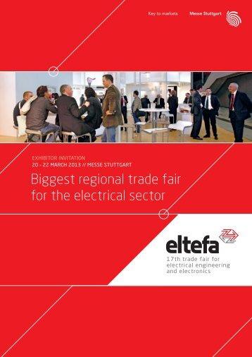 Exhibitor brochure eltefa 2013 PDF format