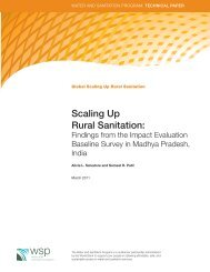 Scaling Up Rural Sanitation: - WSP