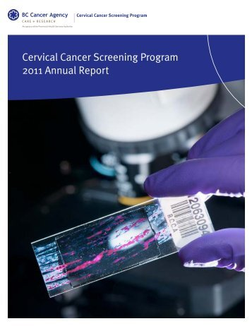 Cervical Cancer Screening Program 2011 Annual Report