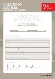 FORMULÁRIO DE CANDIDATURA - DNA Cascais