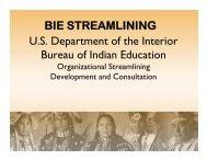 BIE Streamlining PowerPoint - Bureau of Indian Education