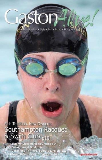 Southampton Racquet & Swim Club p10 - Gaston Alive Magazine