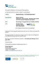 Einladung Lunchvortrag 23. August 2012 - Marketingclub Saar