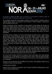 Na verdade, o NOITES NA NORA, não é um festival. É ... - Beja Digital