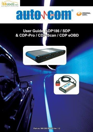 User Guide ADP186 / SDP & CDP-Pro / CDP-Scan ... - BRobd2.com