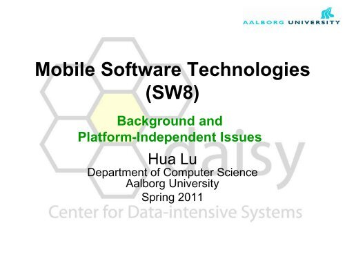 Mobile Software Technologies - Intranet - Department of Computer ...