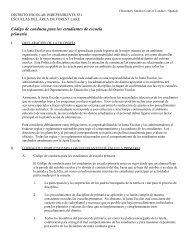 Código de conducta para los estudiantes de escuela primaria