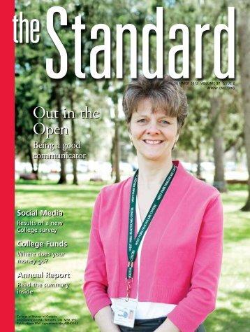 The Standard, Summer 2012 - College of Nurses of Ontario