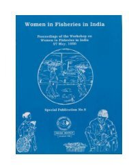 Women in Fisheries in India - GENDER IN AQUACULTURE AND ...