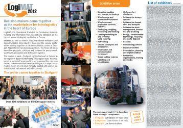 13 to 15 March 2012 New Stuttgart Trade Fair Centre ... - LogiMAT