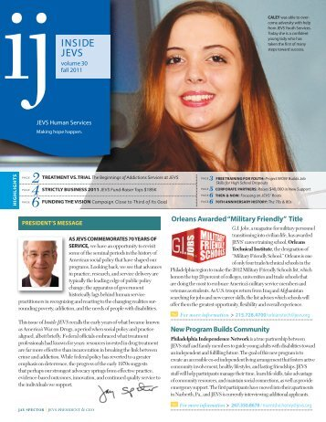 Fall 2011 issue - JEVS Human Services