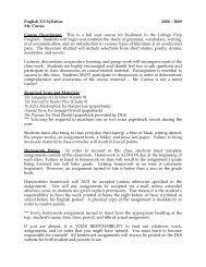 English 313 Syllabus 2008 – 2009 Mr. Correa Course Description ...