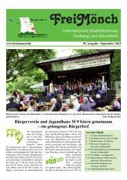 Ausgabe 39 - Bürgerverein Freiberg und Mönchfeld eV