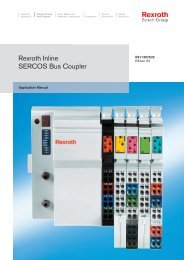 on the SERCOS Bus Coupler - Bosch Rexroth