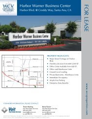 HARbOR WARNER BUSiNESS CENtER - Voit Real Estate Services