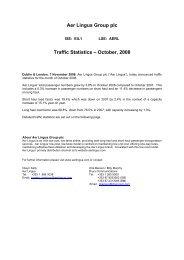 Traffic Statistics – October, 2008 - Aer Lingus