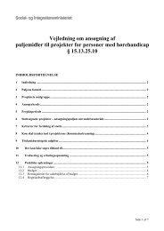 Vejledning om ansøgning af puljemidler til projekter for ... - Social