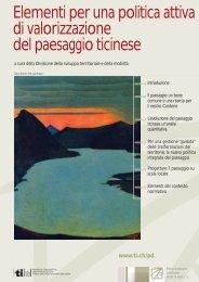 Elementi per una politica attiva di valorizzazione del paesaggio ...