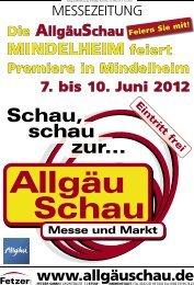 Messezeitung AllgäuSchau Mindelheim 2012