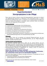 Expertenstandard Sturzprophylaxe in der Pflege - Hs-digs.de