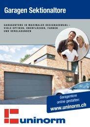 Garagen Sektionaltore - UNINORM Technic AG