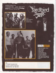 EJS I I TOI'1MY BANKS WAY - Yardbird Suite