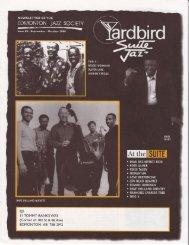 EJS I I TOI'1MY BANKS WAY - Yardbird Suite