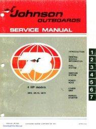 Outboard Motors Mercury Downloadable Service Manuals