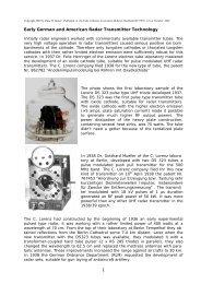 Early German and American Radar Transmitter ... - Cdvandt.org