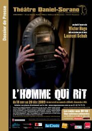 Dossier de Presse Homme qui rit.indd - La Strada et compagnies