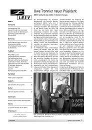 Uwe Tronnier neuer Präsident - LBSV Bremen
