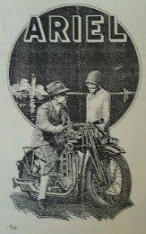 1928 brochure - Ariel Motorcycle Club of North America