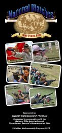 2013 National Matches Program - Civilian Marksmanship Program