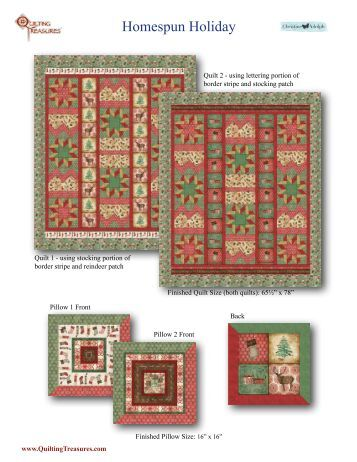 Homespun Holiday - Quilting Treasures