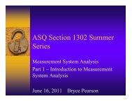 Summer Series 2011 -Overview MSA - ASQ-1302