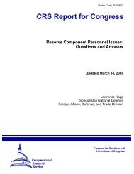 Reserve Component Personnel Issues: Questions ... - PolicyArchive