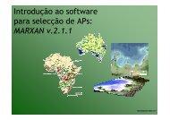Introdução ao software para selecção de APs: MARXAN v.2.1.1