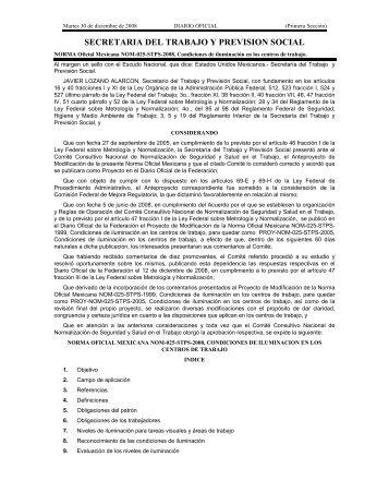 NOM-025-STPS-2008 - Normas Oficiales Mexicanas de Seguridad y ...