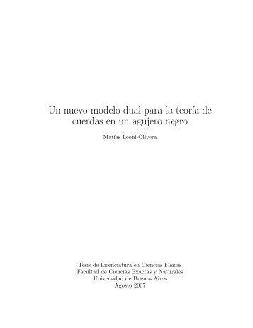 Tesis de Licenciatura - Universidad de Buenos Aires