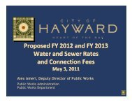 Water and Sewer Rates - City of HAYWARD