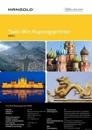 twin-win kupongsprinter brec - Mangold Fondkommission
