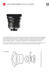 Technical data - Leica Camera AG
