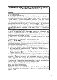 Regolamento di mediazione - Camera di Commercio