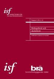Bidragsbrott och skattebrott - Inspektionen för socialförsäkringen