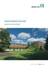 Qualitätsbericht Reha 2007 - MediClin